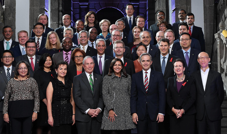Foto oficial del C40 en México, el pasado 1 de diciembre de 2016.
