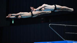 Tom Daley and Matthew Lee competing on Saturday