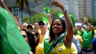 Marcha pro Bolsonaro durante la campaña, el 21 de octubre de 2018 en Río de Janeiro.