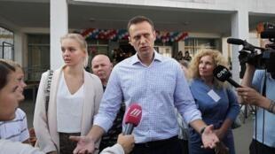俄罗斯反对派领袖纳瓦尔尼资料图片