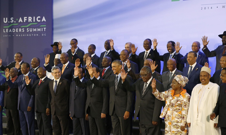 Fotografia de família da cimeira Estados Unidos / África em Washington, 6 de Agosto de 2014