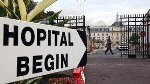 Military Hospital of Bégin de Saint-Mandé where the French nurse infected with Ebola received treatment
