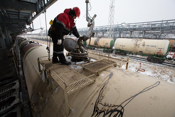 La raffinerie de Lukoil, le numéro deux du pétrole en Russie.