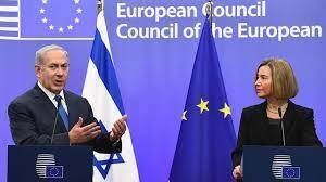 بنیامین نتانیاهو و فدریکا موگرینی  در مقر اتحادیه اروپا در بروکسل