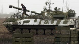 Представитель сепаратистов под Донецком, 4 февраля 2016 г.
