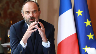French Prime Minister Edouard Philippe during a video conference at Matignon hotel on 30 April 2020.