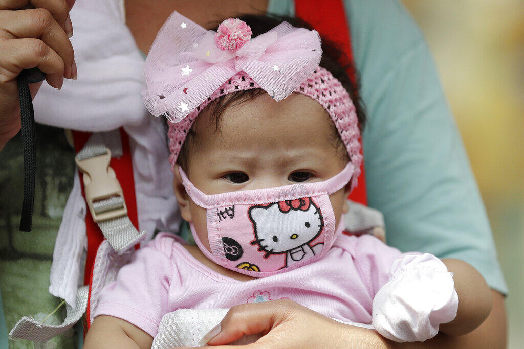 Bebê máscara
