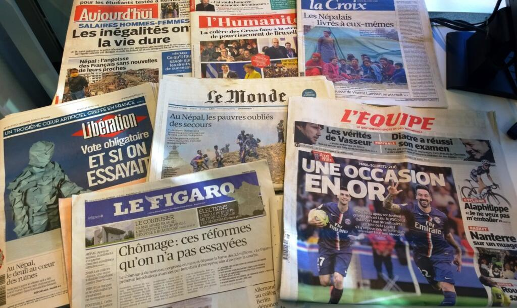 Diários franceses 28/04/2015
