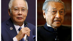 Malaysia's current Prime Minister Najib Razak (left) faces a challenge from his former mentor Mahathir Mohamad in a closely contested general election on 9 May 2018.