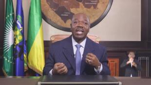 Le président Ali Bongo, le 8 juin 2019.