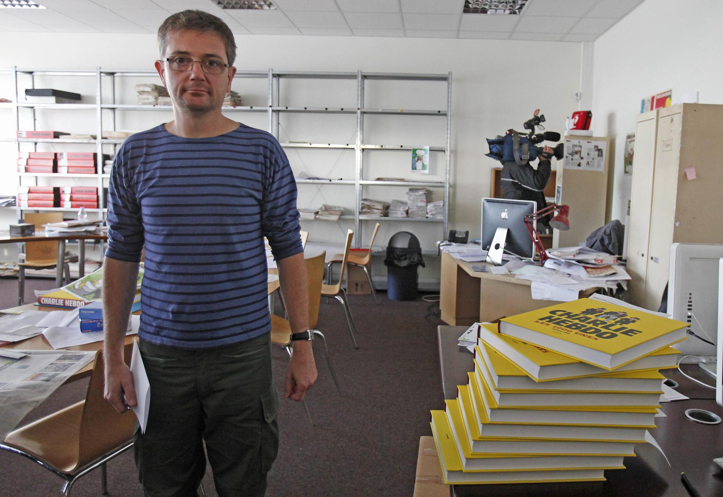 Cartoonist Charb, publishing director of Charlie Hebdo, in 2012