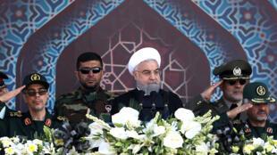 O presidente iraniano Hassan Rohani, em setembro de 2017 em Teerã.