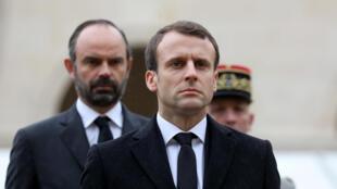 Le président français Emmanuel Macron et son Premier ministre Edouard Philippe.