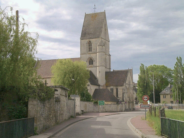 Verson et l'église Saint-Germain.