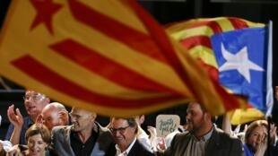 O Presidente catalão Artur Mas em Barcelona, Espanha.