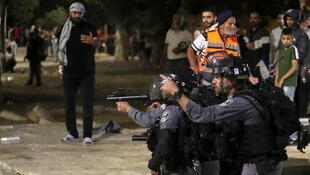 Israel Police Mosquee Al Aqsa