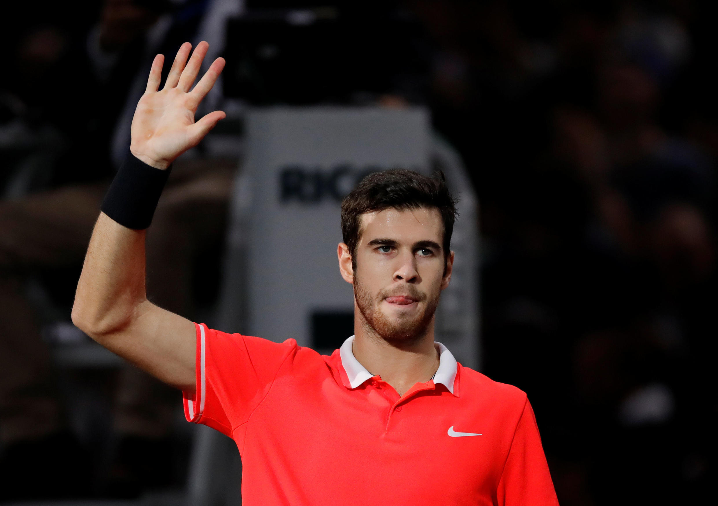Karen Khachanov will play in his first final at a Masters event on Sunday.