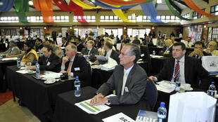 Delegação brasileira em reunião preparatória da 5ª Cúpula do Brics na África do Sul.