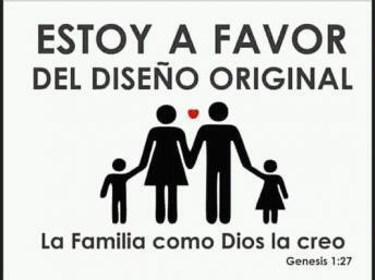 Campanha promovida pela Igreja Evangélica de Cuba afirma que a família héteronormativa é a que Deus criou.