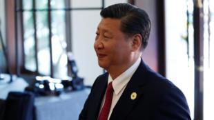 图为中国国家主席习近平于2017年11月
