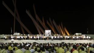 Los funerales de Fidel Castro en la plaza Antonio Maceo de Santiago de Cuba.