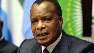 Le président congolais Denis Sassou-Nguesso, à Bruxelles le 3 mars 2015.