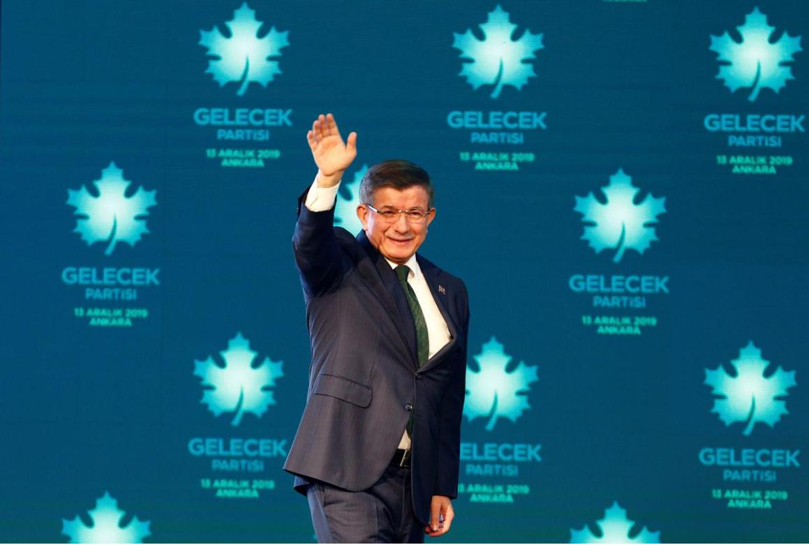 土耳其前政府總理達烏特奧盧宣布成立新政黨 2019年12月13日 安卡拉 Turkey: Former Turkish prime minster Ahmet Davutoglu arrives at a news conference to announce formally the establishment of his Future Party in Ankara, December 13, 2019.