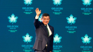 土耳其前政府总理达乌特奥卢宣布成立新政党 2019年12月13日 安卡拉 Turkey: Former Turkish prime minster Ahmet Davutoglu arrives at a news conference to announce formally the establishment of his Future Party in Ankara, December 13, 2019.