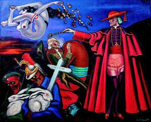Remembrance, Clovis Trouille, 1930. Huile sur toile 86 x 70 cm.