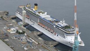 Imagem ilustrativa de um navio de cruzeiro.