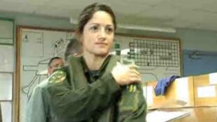 Marie Macke, pilote de chasse sur Mirage 2000.