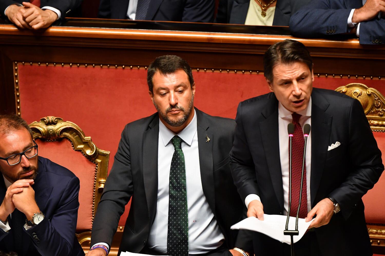 Thủ tướng Ý Giuseppe Conte điều trần tại Thượng Viện, Roma, ngày 20/08/2019