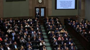 Le Parlement polonais à Varsovie, le 27 juin 2018.