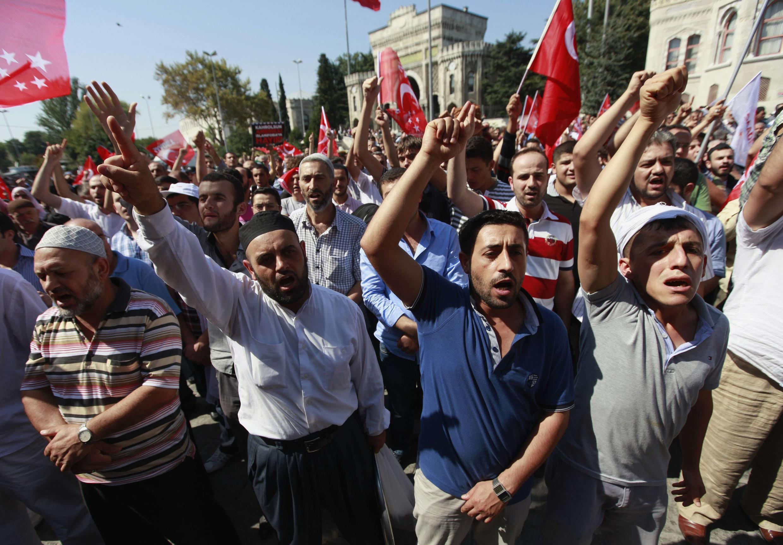 Biểu tình tại Istanbul, Thổ Nhĩ Kỳ phản đối bộ phim báng bổ đạo Hồi, 14/09/2012