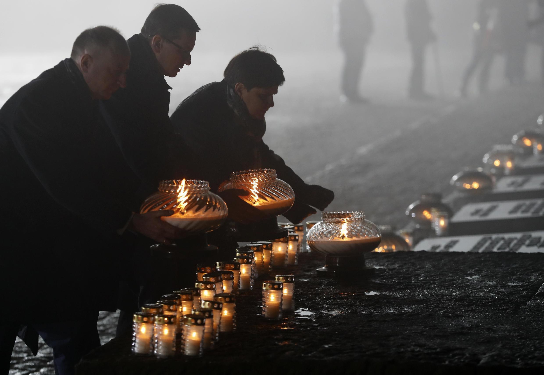 Мемориал в память о жертвах нацизма в музее Аушвиц-Биркенау