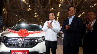 本田與中國合資新工廠在武漢開始生產2019年4月12日武漢