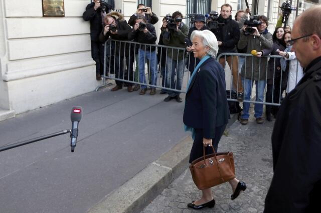 A diretora-gerente do FMI, Christine Lagarde, chegou na manhã desta quinta-feira, 23 de maio de 2013, à Corte de Justiça da República em paris para iniciar seu depoimento.