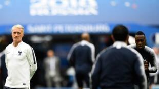 Le coach de l'équipe de France, Didier Deschamps, devra mener ses joueurs à la victoire contre la Belgique en demi-finale de la Coupe du monde 2018.