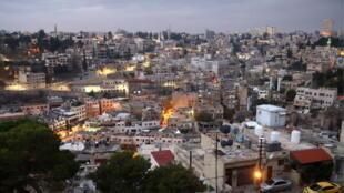 Vue de Amman, la capitale de la Jordanie.