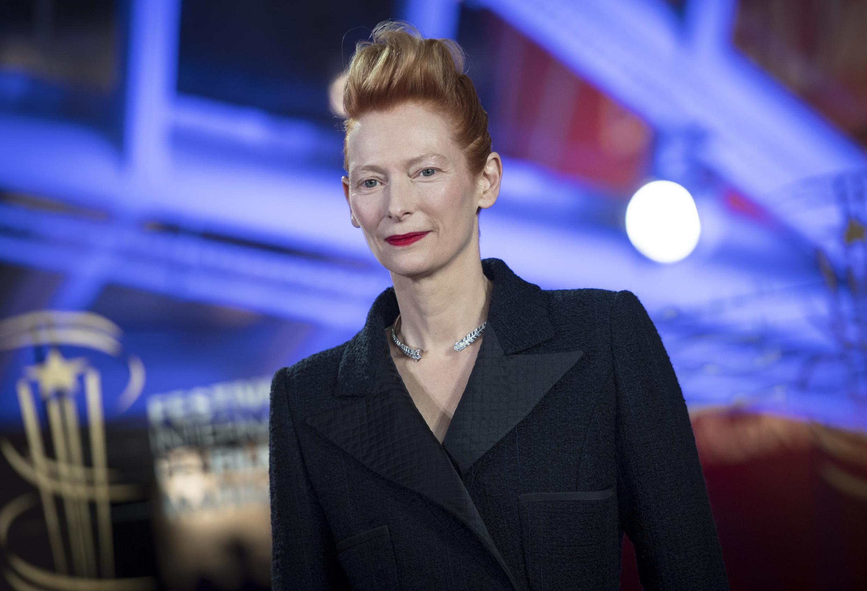 L'actrice Tilda Swinton recevra à la Mostra de Venise 2020 un Lion d'or. Ici en décembre 2019 au Festival international du film de Marrakech.