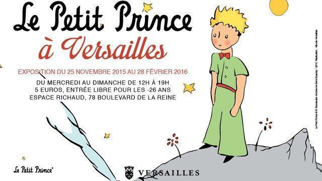 """آفیش نمایشگاه """"شازده کوچولو در ورسای""""، که از ٢۵ نوامبر شروع و تا ٢٨ فوریه ٢٠١٦ در شهر """"ورسای"""" ادامه دارد."""