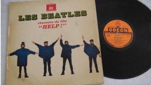 Capture d'écran de la pochette du disque «Help» des Beatles.
