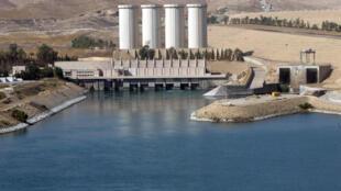 伊拉克最大的摩苏尔水坝