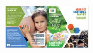 La page d'accueil de réseau environnement santé.