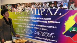 ASFAMIPAZ, asociación colombiana de familiares de rehenes de grupos guerrilleros.