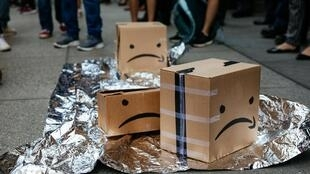 Protestas contra las condiciones de trabajo en Amazon en New York City, el 15 de julio de 2019.