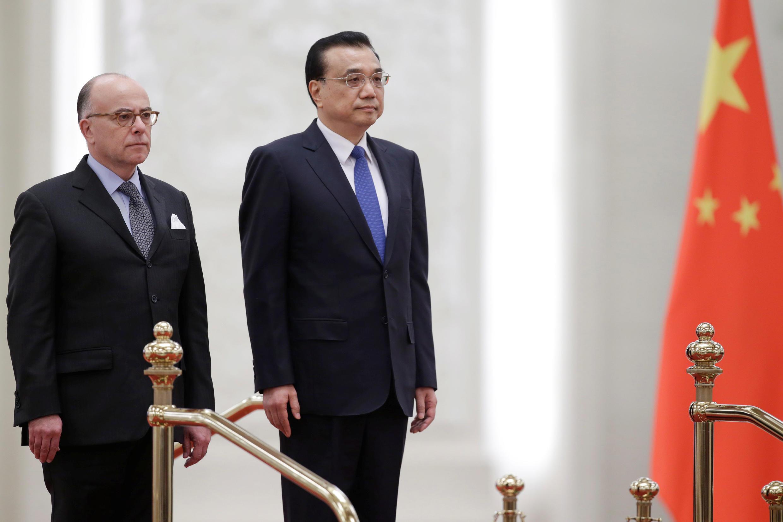 總理李克強在北京人民大會堂會見到訪的法國總理卡澤納夫 2017 20 21