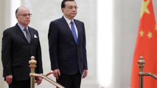 总理李克强在北京人民大会堂会见到访的法国总理卡泽纳夫 2017 20 21