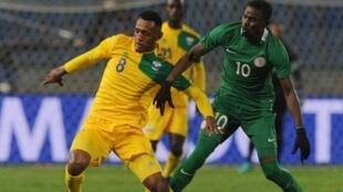 Nigeria ikimenyana na Rwanda katika mchuano wa kwanza wa kundi C Januari 15 2018, mchuano huo ulimalizika 0-0