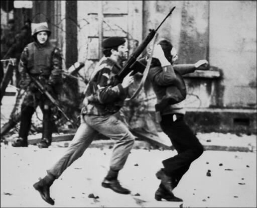The streets of Derry on 30 January, 1972.